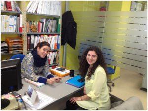 Nuestra Vicedecana, Inés Moya, junto a Silvia González, alumna del IES Condesa Eylo