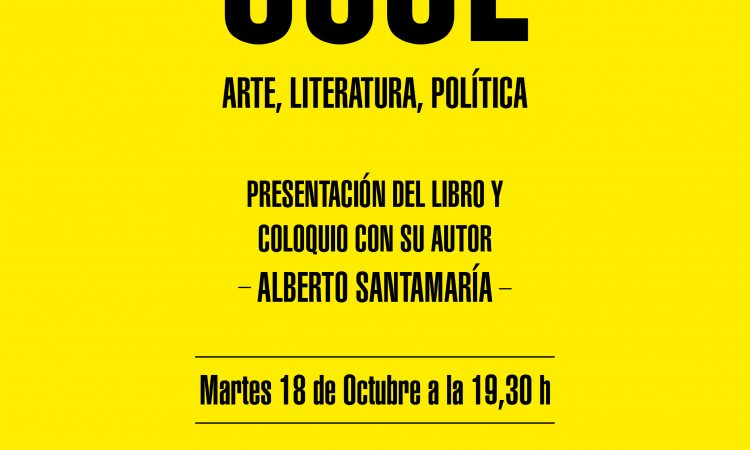 Presentación del libro «Paradojas de lo cool. Arte. Literatura. Política» y coloquio con su autor, Alberto Santamaría profesor en la Facultad de Bellas de la Universidad de Salamanca. (18 de octubre de 2016)