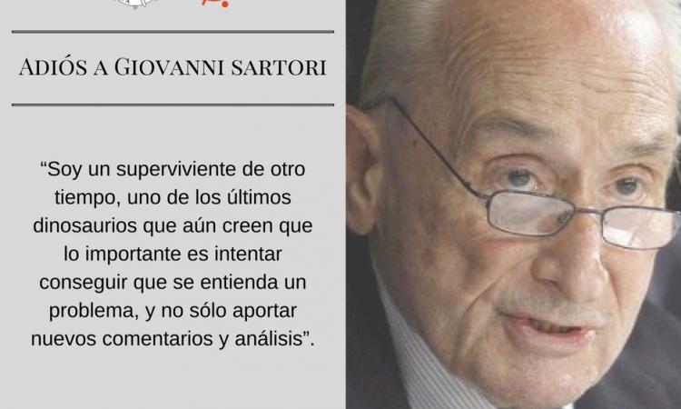 Adiós al sociólogo italiano Giovanni Sartori