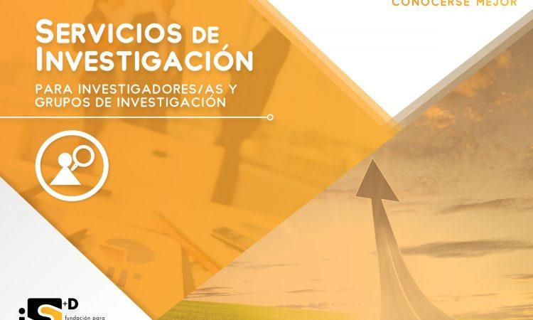 Servicios para Investigadores/as y Grupos de Investigación de la Fundación iS+D, con descuento del 20% para los/as colegiados/as de Copyscyl