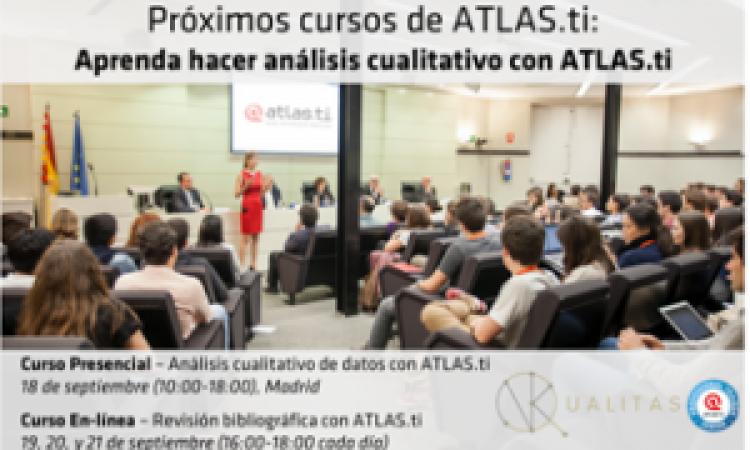 Cursos de Análisis Cualitativo con ATLAS.ti, con descuentos de el 10% para todos/as los/as colegiados/as