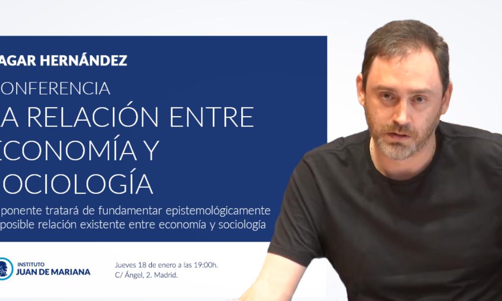 """Nuestro colegiado Sagar Hernández Chuliá impartirá una conferencia titulada """"RELACIÓN ENTRE ECONOMÍA Y SOCIOLOGÍA A TRAVÉS DE SUS RESPECTIVOS OBJETOS DE ESTUDIO"""" el próximo jueves 18 de enero de 2018"""