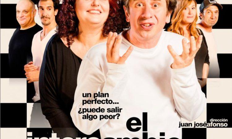 """""""El intercambio"""", comedia protagonizada por Gabino Diego y Teté Delgado en Teatro Zorrilla de Valladolid, el 9 y 10 marzo, con descuento especial para los/as colegiados/as de Copyscyl"""