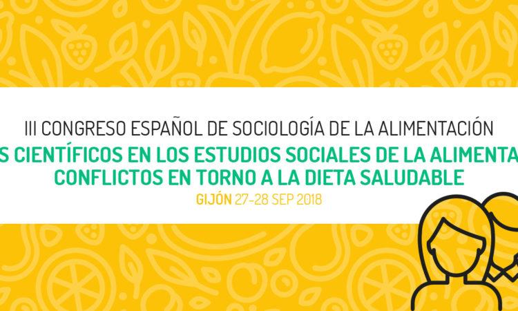 Ampliación del plazo de presentación de resúmenes hasta el día 20 de junio, del III Congreso Español de Sociología de la Alimentación, Gijón (Asturias) el 27 y 28 de septiembre de 2018, con descuento para los/as colegiados/as de Copyscyl