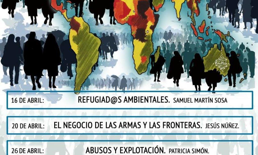 II ciclo de conferencias 2018 organizado por el Colectivo Indignado de Valladolid y titulado «Refugiadxs sin refugio, causas y consecuencias.»
