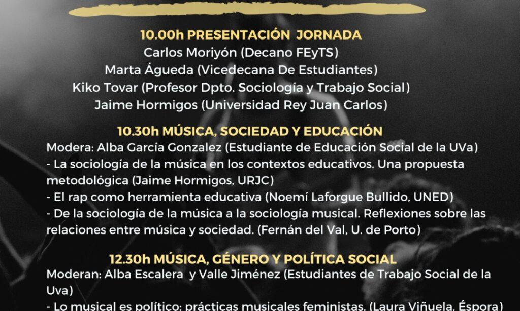 Jornada Música y Sociedad en la Facultad de Educación y Trabajo Social, reflexión en torno al papel que tiene la música en la sociedad, jueves 21 de Marzo