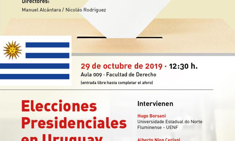 """Seminario: Urnas y democracia: """"Elecciones Presidenciales en Uruguay"""". Universidad de Salamanca (29 de Octubre de 2019)."""
