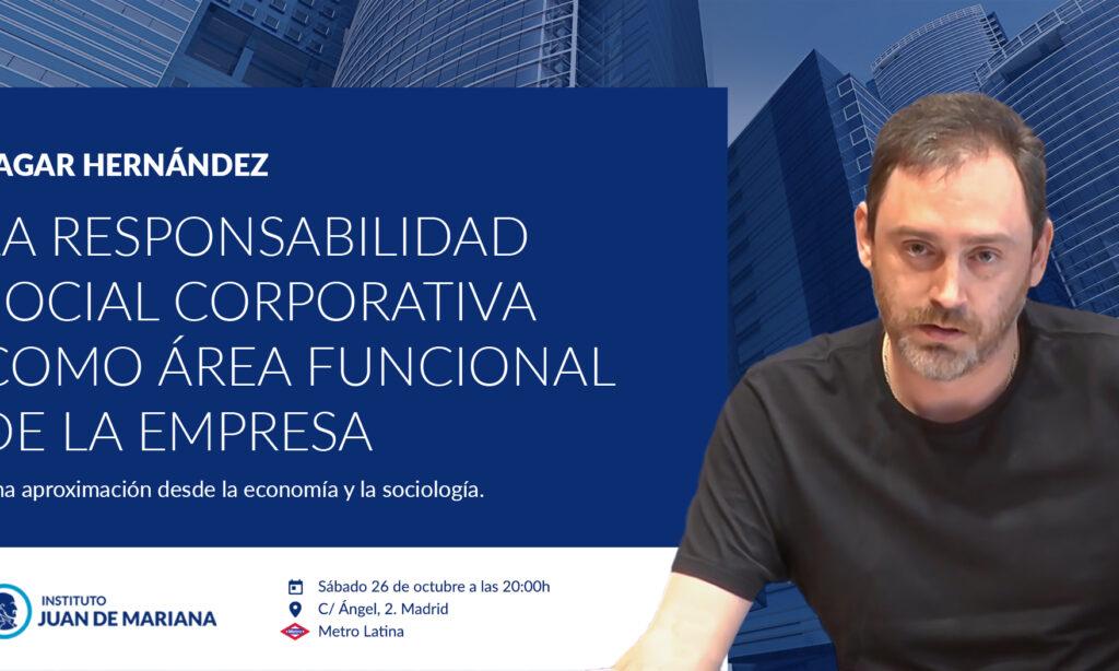 Nuestro colegiado Sagar Hernández Chuliá impartirá una conferencia titulada «LA RESPONSABILIDAD SOCIAL CORPORATIVA COMO ÁREA FUNCIONAL DE LA EMPRESA» el próximo sábado, día 26 de Octubre de 2019