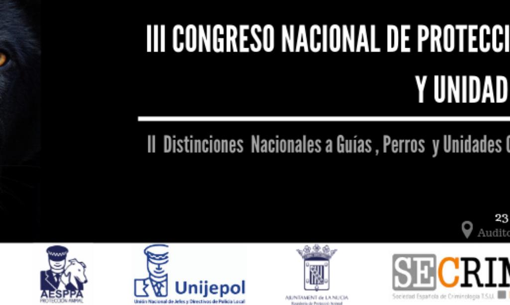 Nueva edición del Congreso de Protección Animal-SECrim, organizado por la Sociedad Española de Criminología T.S.U (SECrim) el próximo 23 de octubre en La Nucia (Alicante) con una con un formato nuevo y renovado. La inscripción es gratuita