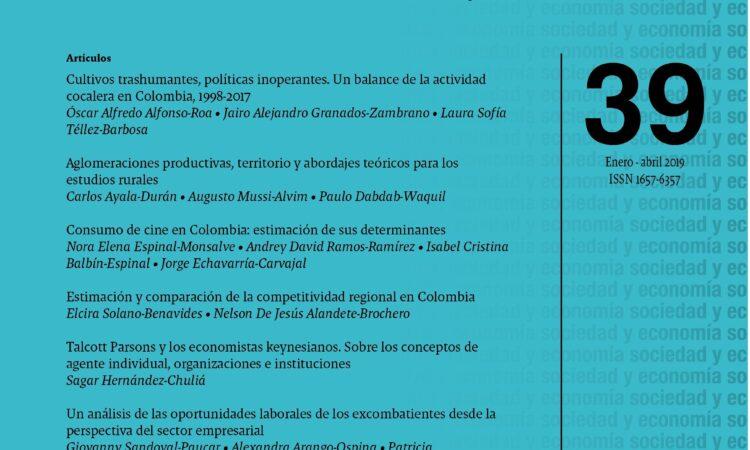 Artículo: «Talcott Parsons y los economistas keynesianos. Sobre los conceptos de agente individual, organizaciones e instituciones», por nuestro colegiado Sagar Hernández, publicado en el Número 39 (Enero – Abril 2020) de la revista Sociedad y Economía.