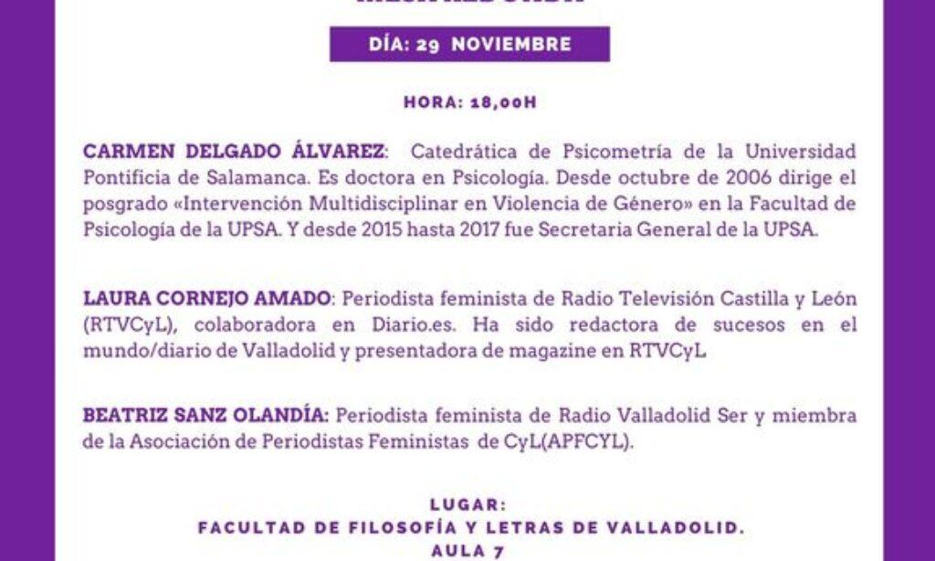 Jornadas: «Las violencias machistas y los medios de comunicación». (Fecha: 29 de noviembre de 2019)