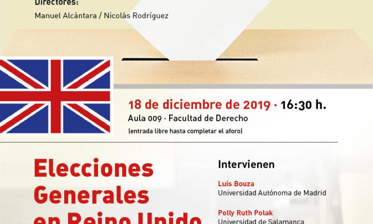 """Seminario: Urnas y democracia: """"Elecciones Generales en Reino Unido 2019"""". Universidad de Salamanca (Fecha: 18 de diciembre de 2019)."""