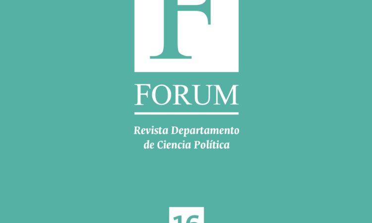 Artículo: «Las constricciones de la agenda de las reformas políticas. A propósito de la división de poderes», por nuestro Colegiado Manuel Alcántara, publicado en el número 16 de Forum Revista Departamento de Ciencia Política, de la Universidad Nacional de Colombia.