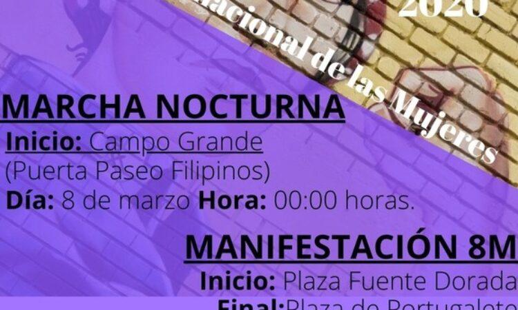 DIA INTERNACIONAL DE LAS MUJERES Marcha nocturna y Manifestación 8M -Valladolid (Fecha: 8 de marzo)