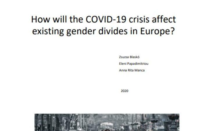 Un minuto para la Igualdad «La sociología y la estadística unen esfuerzos para investigar las relaciones de género durante la pandemia ¿Cómo afectará la crisis COVID-19 a mujeres y a hombres en Europa?