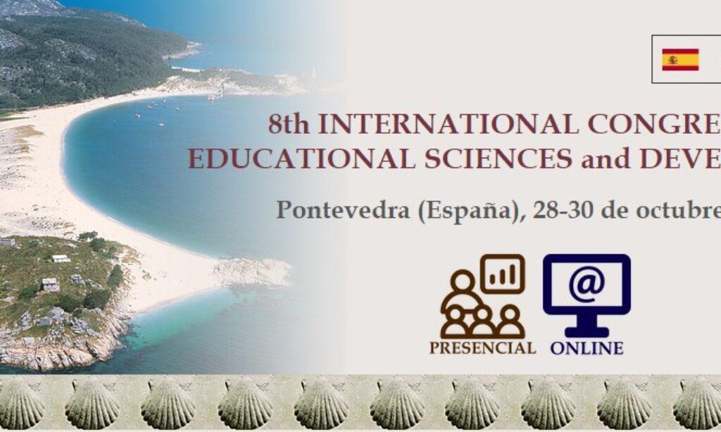 8th INTERNATIONAL CONGRESS of EDUCATIONAL SCIENCES and DEVELOPMENT (ONLINE/Presencial) que se realizará del 28 al 30 de octubre de 2020 en Pontevedra (España), con cuota de inscripción reducida para los/as colegiados/as de Copyscyl