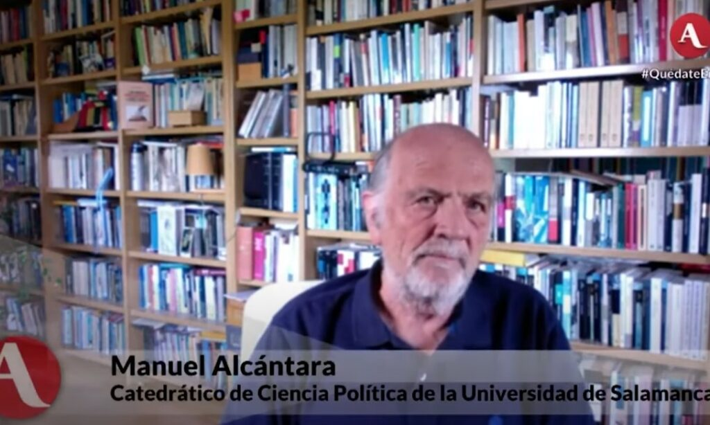 «2020: La Pandemia, con Daniel Zovatto. Futuro de la política y la democracia en AL post pandemia», emitido el 8 de junio de 2020 en Aristegui Noticias, con la participación de nuestro colegiado Manuel Alcántara.