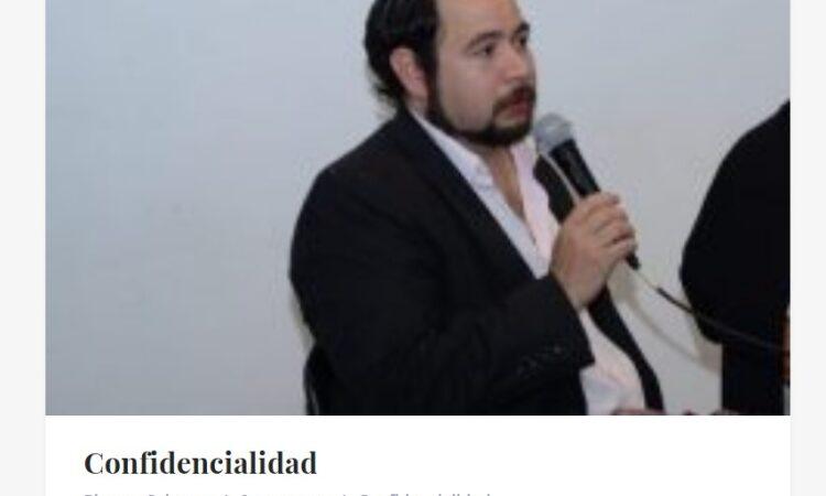 Artículo: «Confidencialidad», por Francisco Tomás González Cabañas, publicado en Plumas Selectas el día 29 de junio de 2020.