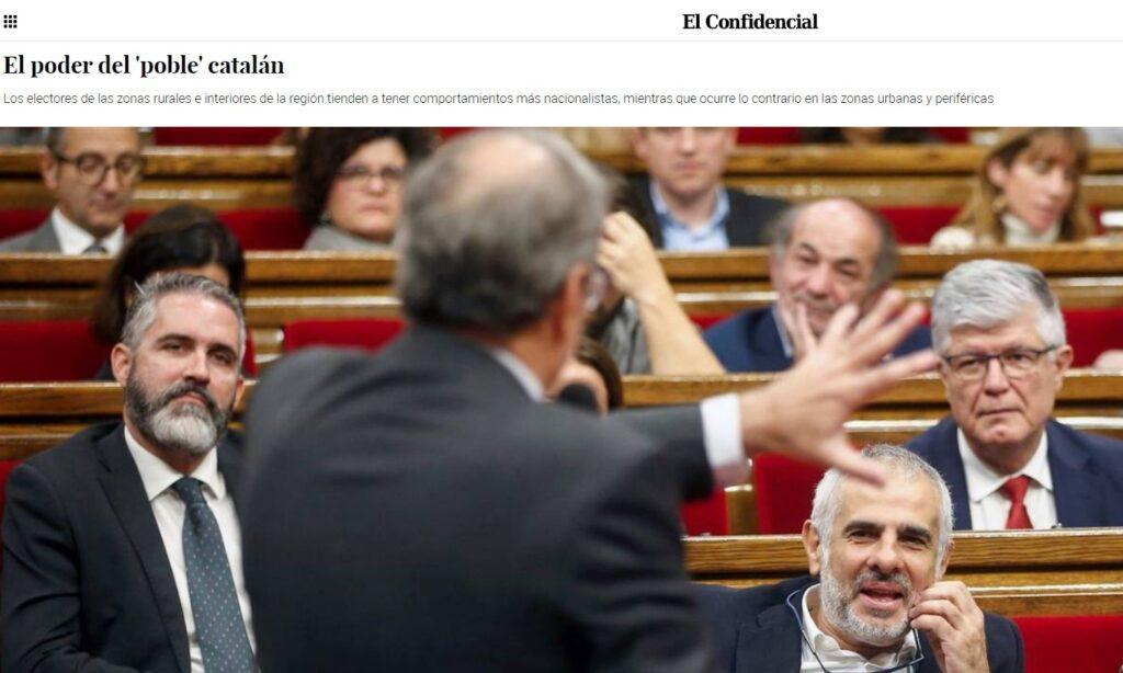 """Artículo: """"El poder del 'poble' catalán"""", por nuestros colegiados Álvaro Sánchez García e Imanol Negral, publicado en El Confidencial el día 28 de junio de 2020"""