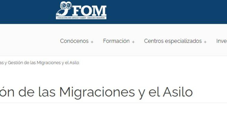 Curso de Experto en «Políticas y gestión de las migraciones y el asilo» co-organizado por el Instituto Universitario de Investigación Ortega y Gasset y Accem (Plazo matriculación: 15 de octubre de 2020)