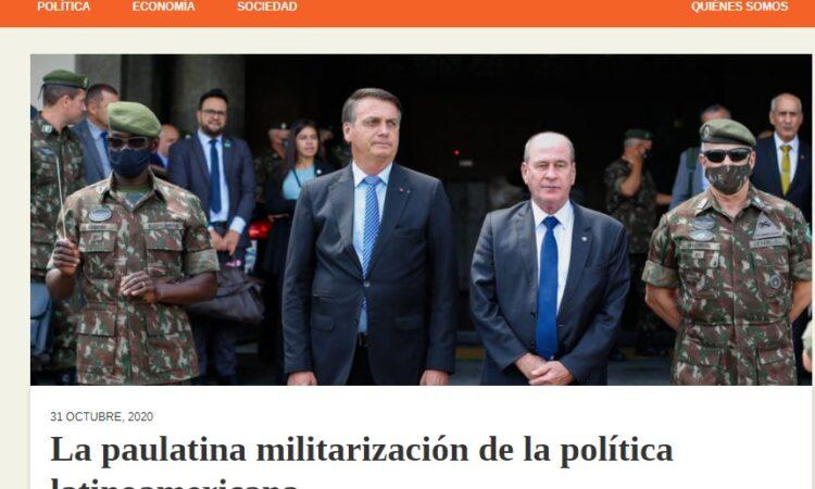 Artículo: «La paulatina militarización de la política latinoamericana» por nuestro colegiado Manuel Alcántara, publicado en Latinoamérica 21 el día 31 de octubre de 2020