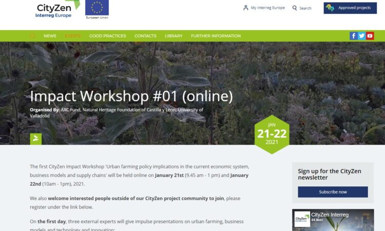 CityZen 1st Impact Workshop (Digital event), (Fecha:  January 21st 9.45 am – 1 pm and January 22nd 10am – 1pm, 2021)