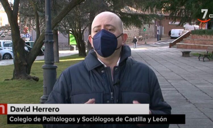 Entrevista a David Herrero Muñoz, miembro de la Junta de Gobierno del Colegio y representante de las provincias de Ávila y Segovia, en los servicios informativos de Castilla y León Televisión, emitido el 2 de febrero de 2021