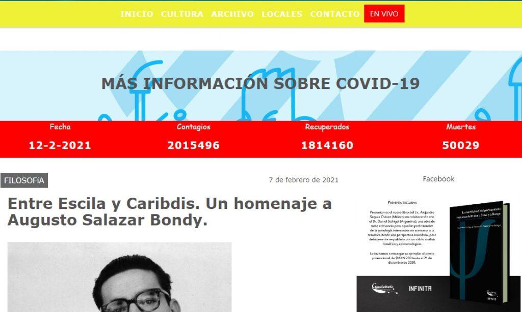 Artículo: «Entre Escila y Caribdis. Un homenaje a Augusto Salazar Bondy», por Francisco Tomás González Cabañas, publicado en Comunas del Litoral el día 7 de febrero de 2021