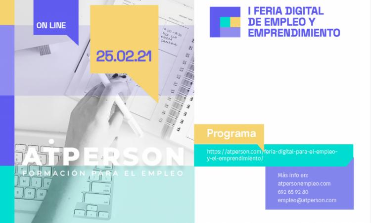I Feria Digital de Empleo y Emprendimiento. Participación del Colegio de CC. Políticas y Sociología de C-LM. (Fecha: 25 de Febrero de 2021 10-14h y 17-20h de manera online)