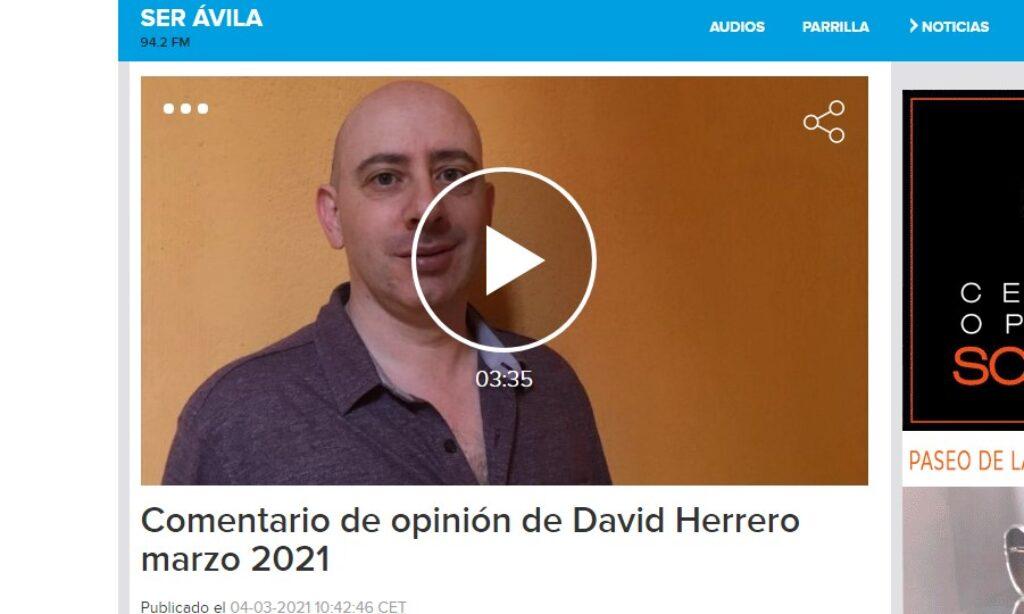 Comentario de opinión de David Herrero sobre la actualidad abulense de marzo en SER Ávila