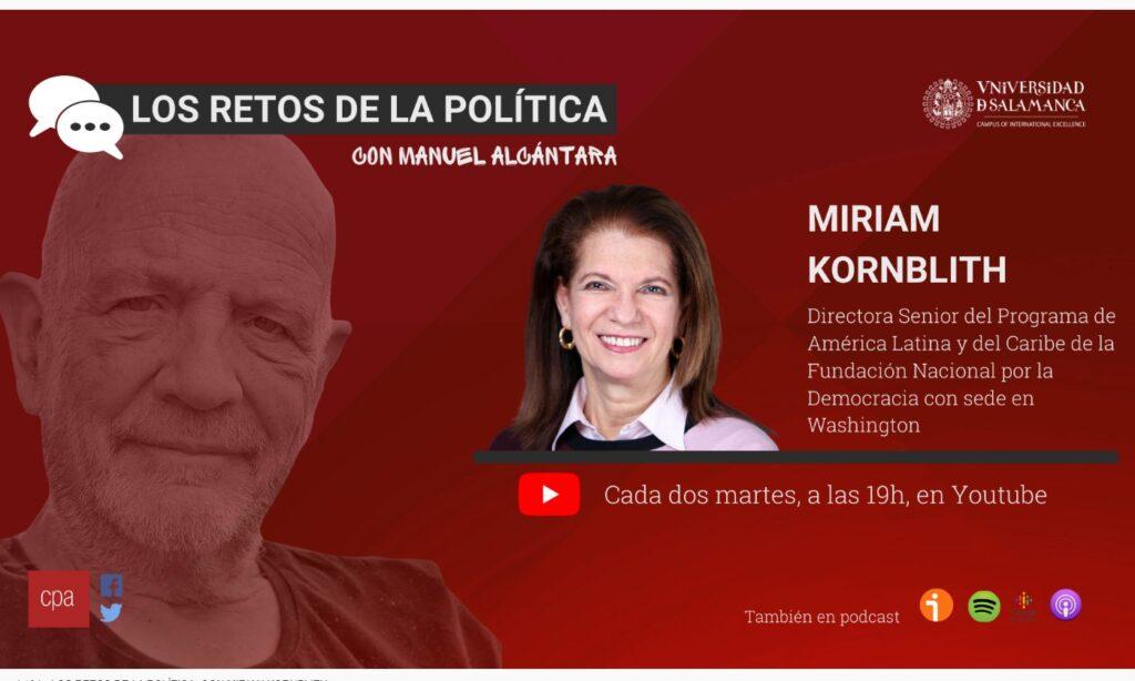 «Los retos de la política», con Manuel Alcántara. Programa 1×09 (Fecha: 9 de marzo de 2021)