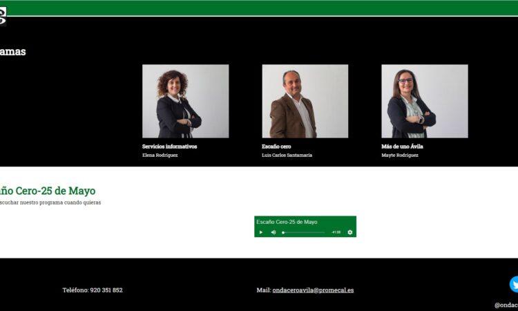 Colaboración de David Herrero en «Escaño Cero», la tertulia de análisis de actualidad política y social de Onda Cero Ávila, el día 25 de mayo de 2021