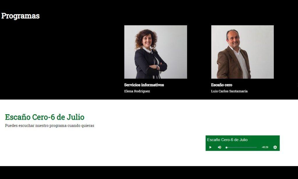 David Herrero Muñoz, miembro de la Junta de Gobierno, colabora en el espacio de debate y análisis de la actualidad de Ávila «Escaño Cero», en Onda Cero Ávila, el día 6 de julio de 2021