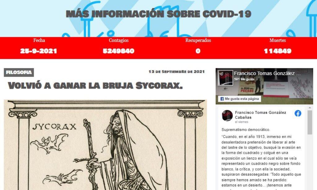 Artículo: «Volvió a ganar la bruja Sycorax», por Francisco Tomás González Cabañas, publicado en Comunas del Litoral el día 13 de septiembre de 2021